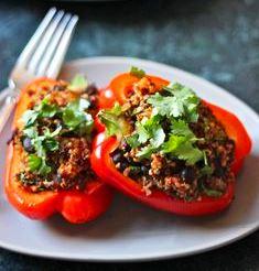 quinoa and black bean stuffed peppers