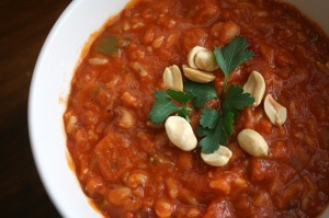 Black eyed bean tomato stew