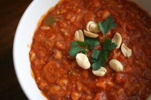 Black eyed bean tomato stew